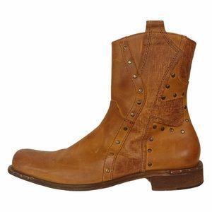HAVOC Mark Nason Distressed Brown Leather Zip Boot